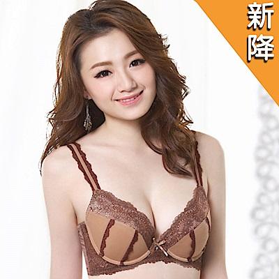 莎薇 浪漫奢華 粉水2UP B-D罩杯內衣(可可膚)