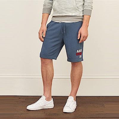 麋鹿 AF A&F 經典標誌運動休閒短棉褲-墨藍色