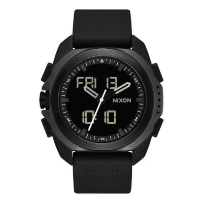 NIXON 科技城市多功能電子腕錶-黑(A1267000)/47mm