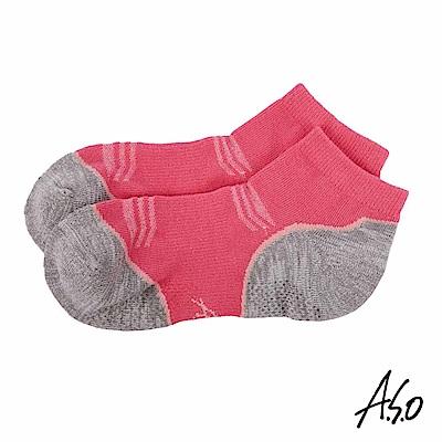 A.S.O 遠紅外線系列 除臭短襪-桃粉紅