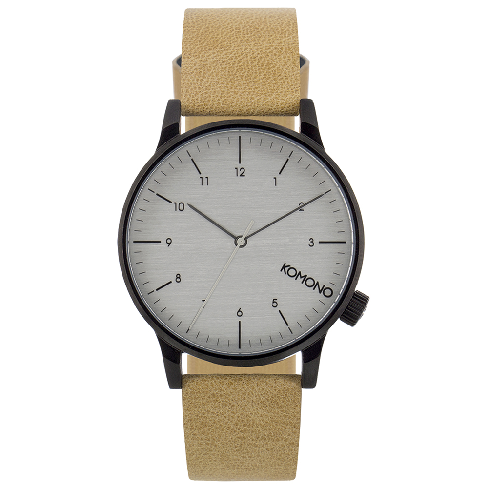 KOMONO Winston Regal 腕錶-駱駝黃/41mm
