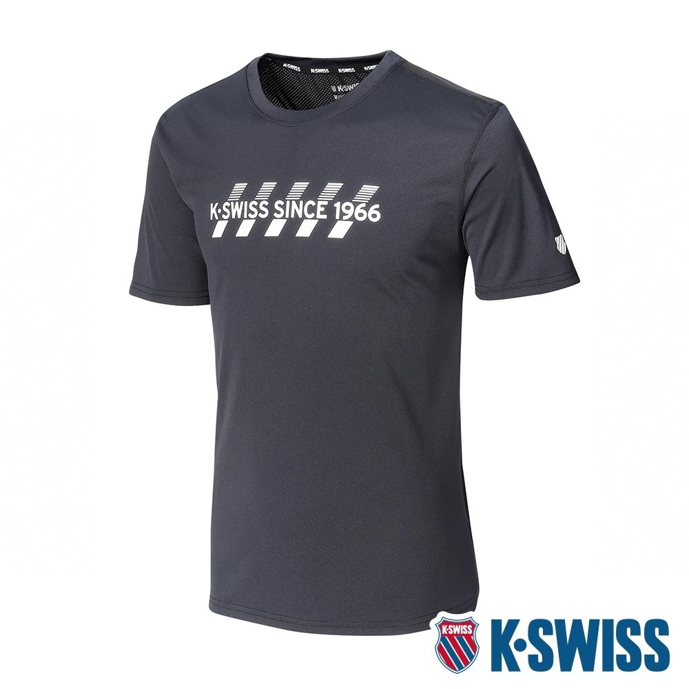 K-SWISS KS 1966 Tee排汗T恤-男-黑