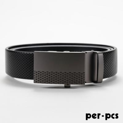 per-pcs 時尚精選皮革格紋自動皮帶_805-AT