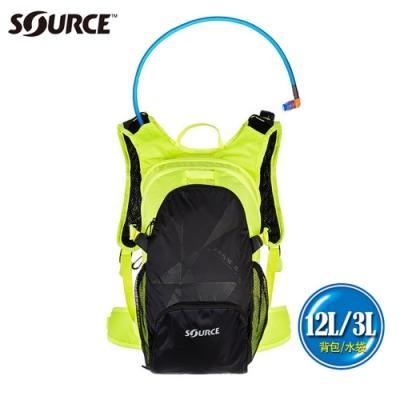 【以色列SOURCE】戶外健行水袋背包Air Fuse系列 (12L/水袋3L)