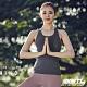 STL yoga bra T SS Balance Slim 韓國瑜珈 運動機能訓練背心上衣(含胸墊)平衡拿鐵灰 product thumbnail 1