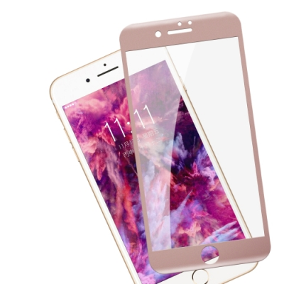 iPhone 7/8軟邊 碳纖維 透明 9H 滿版玻璃膜 保護貼