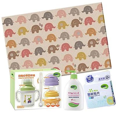 韓國 Parklon 帕龍地墊 Hi Living(大象)+四階段學習杯防蚊特惠組