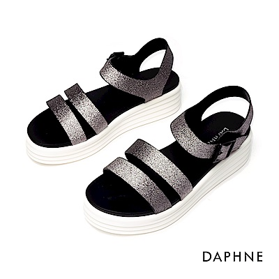 達芙妮DAPHNE 涼鞋-簡約雙條帶潮流厚底涼鞋-愓色