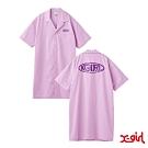 X-girl WARP LG SHIRT DRESS OVERSIZE短袖襯衫-粉