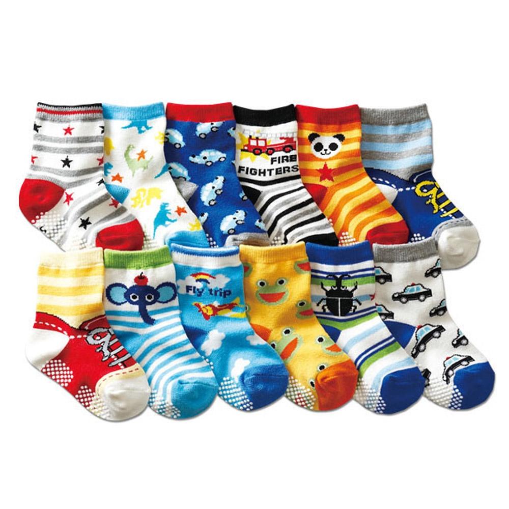 Baby童衣 寶寶襪子12雙入 多花色卡通童襪 88717