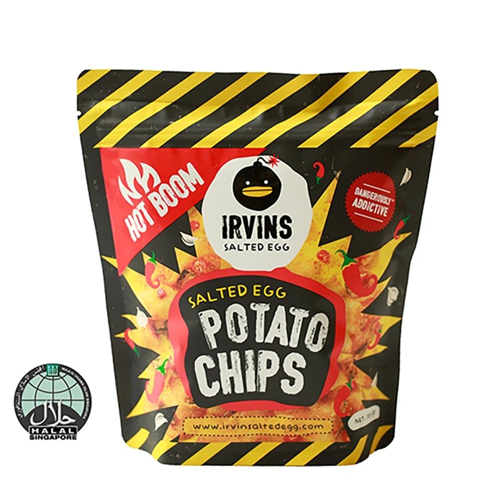 【IRVINS黑鴨】嗆辣鹹蛋黃洋芋片(105公克)