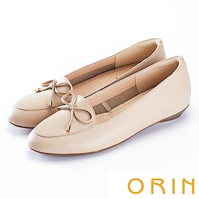 ORIN 氣質甜美風 嚴選高優質牛皮百搭平底鞋-粉色