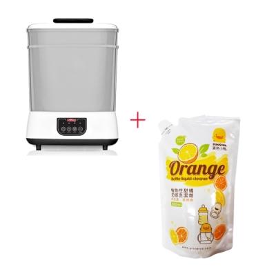 Nuby蒸氣消毒烘乾鍋+黃色小鴨 奶瓶洗潔劑補充包800ML*1入