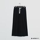 Hang Ten - 女裝 - 抽繩純色休閒寬褲 - 黑
