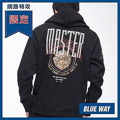 網路限定_地藏小王-BLUE WAY-左胸金箔LOGO連帽TEE