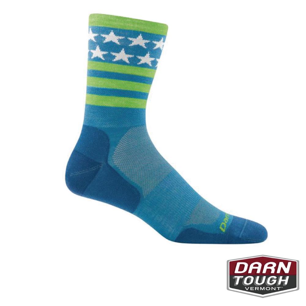 【美國DARN TOUGH】男羊毛襪STARS自行車襪(2入隨機)