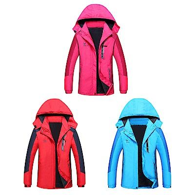 【Effect】情侶款急速聚熱加絨防風防水保暖外套(女款/3色可選)