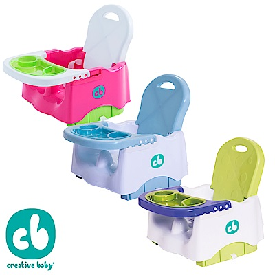 [雙11專案價再送]Creative Baby攜帶式輔助小餐椅(多色任選)