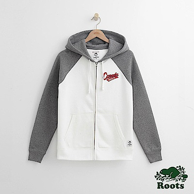 Roots-女裝-冬季加拿大系列連帽外套 - 白