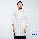 WEAVISM 織本主義- W格紋直筒罩衫 灰色