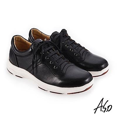 A.S.O 超能耐二代 避震止滑休閒鞋 黑