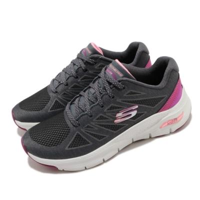 Skechers 休閒鞋 Arch Fit 專利鞋墊 女鞋 足科醫生推薦 回彈 避震 穩定 透氣 灰 粉 149411CCPK