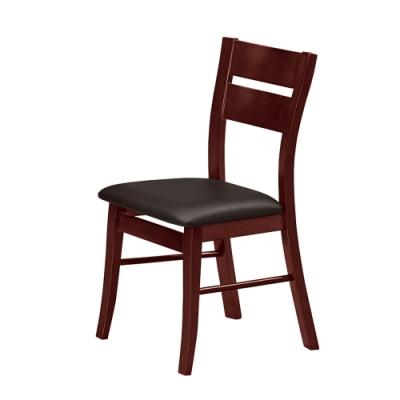 Boden-亞伯實木皮面餐椅/單椅(黑色)-38x42x89cm