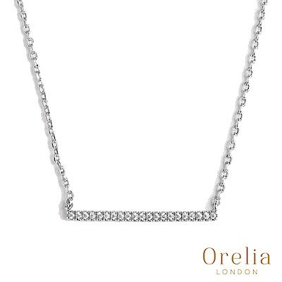 Orelia 英國倫敦 經典簡約水晶鍍銀項鍊