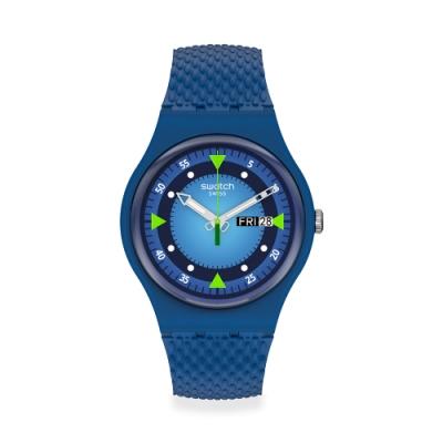 SWATCH New Gent 原創系列手錶BLUE BLEND 深海探險(41mm)