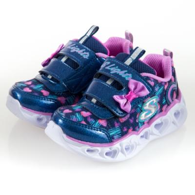 SKECHERS 女嬰童系列 燈鞋 HEART LIGHTS-20264NNVLV