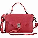 Rebecca Minkoff Darren 小款 銀釦流蘇飾皮革手提肩背包(紅色)