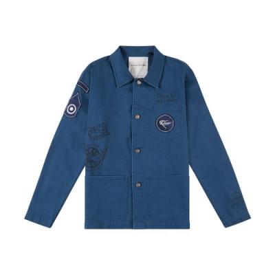 Deus Walker Overshirt 長袖襯衫-藍 (男)