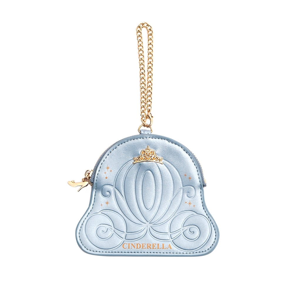 Disney collection by gracegift-仙杜瑞拉馬車零錢包 淺藍