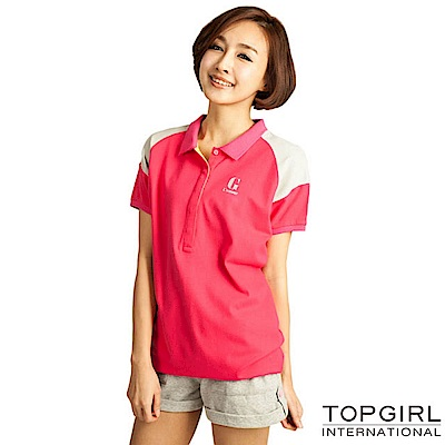 【TOP GIRL】長版造型POLO衫 - 深海藍