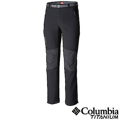Columbia 哥倫比亞 男款-鈦 Omni-HEA保暖防潑長褲- 黑色