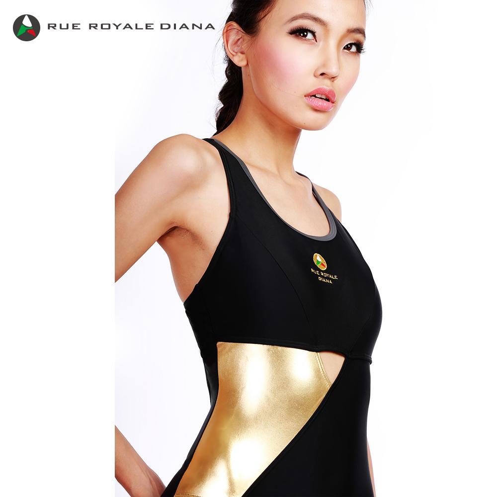義大利DIANA 時尚連身泳裝 金色 R110001