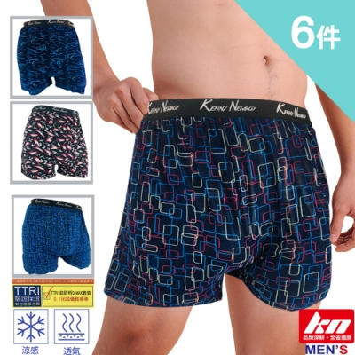 MORRIES 莫利仕 6件組-冰涼紗平口褲M-3L(KN8920)