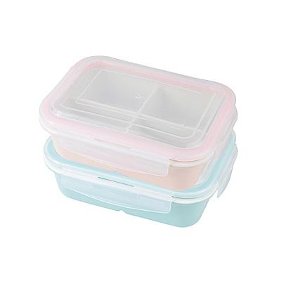 法國 sunlife 第三代皇家冰瓷4格長形分隔保鮮盒750ML*2