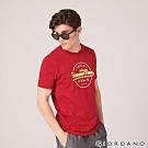GIORDANO 男裝SUN AND SEA系列印花短袖T恤-22 標誌紅