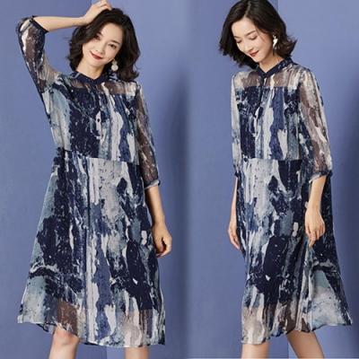 【韓國K.W.】流行穿搭夏日氛圍短袖洋裝