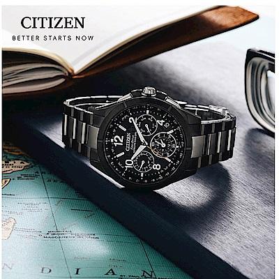 CITIZEN星辰 年度廣告 鈦光動能GPS衛星計時錶(CC9075-52E)