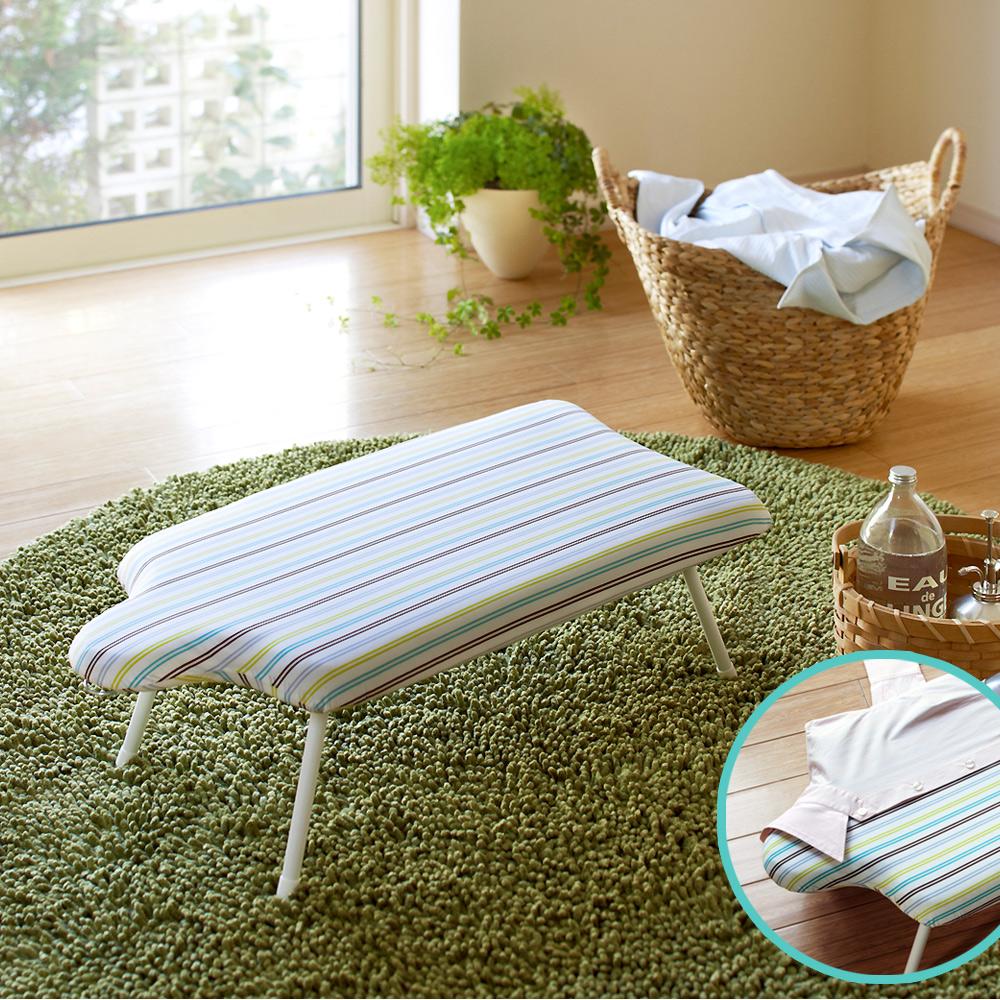 YAMAZAKI人型可掛式桌上型燙衣板-直條紋