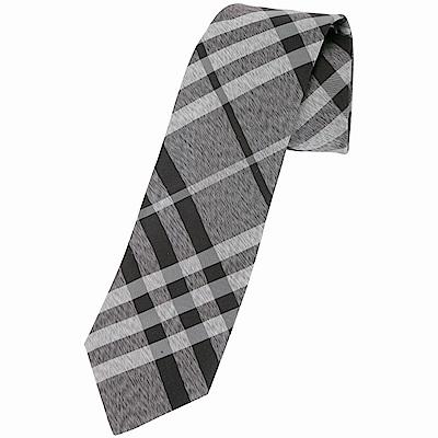 BURBERRY Vintage 現代剪裁格紋絲質領帶(黑灰色)