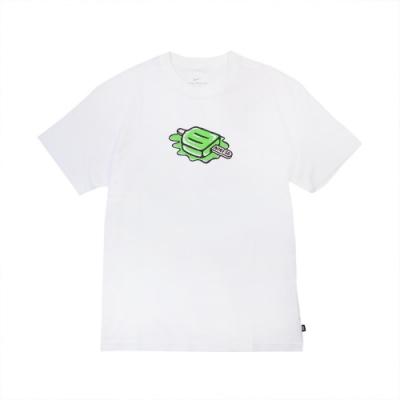 Nike T恤 SB Skate T-Shirt 男款 滑板 冰淇淋 塗鴉 穿搭推薦 圓領 白 綠 DD1317100