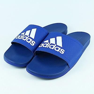 ADIDAS-男女涼拖鞋AQ3113-藍
