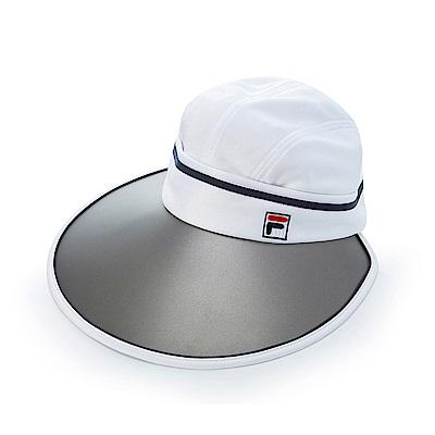 FILA 時尚可拆遮陽帽-白HTS-5003-WT