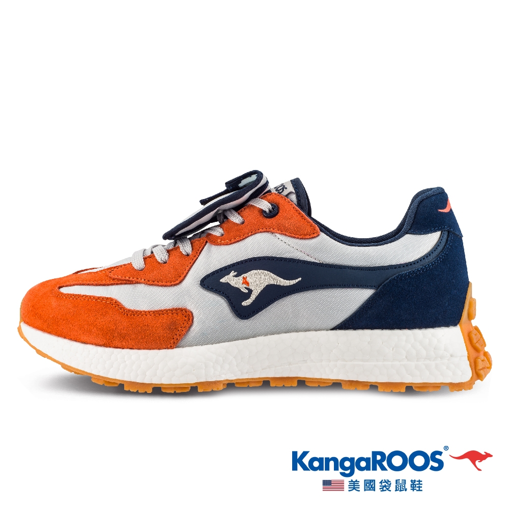 KangaROOS 男 CRAFT 科技 機能 NEWTRO復古潮流 運動鞋(橘藍-KM11912)