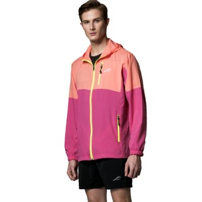 聖手牌 外套 橘紅雙色防曬輕薄運動休閒連帽外套