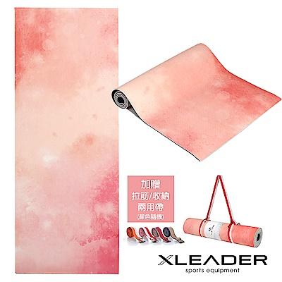 Leader yoga 修行者專業TPE瑜珈墊 雙面防滑6mm 梵‧冥想