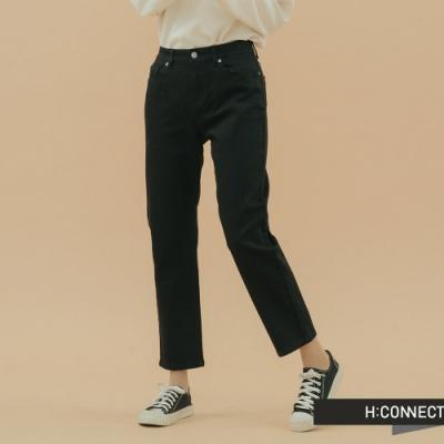 H:CONNECT 韓國品牌 女裝 - 小直筒修身長褲 - 黑